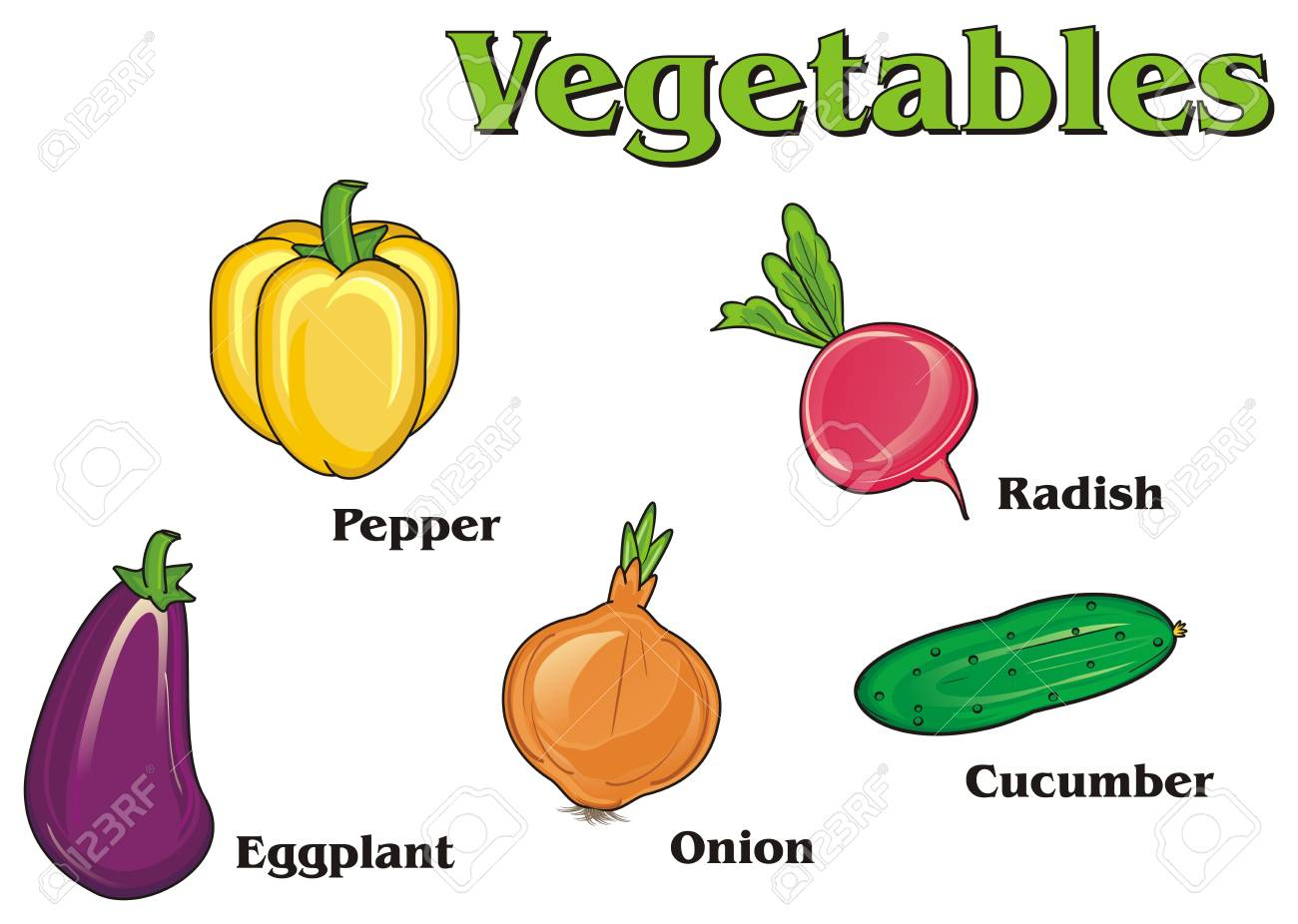 Colored Vegetables With His Name serapportantà Nom De Legume