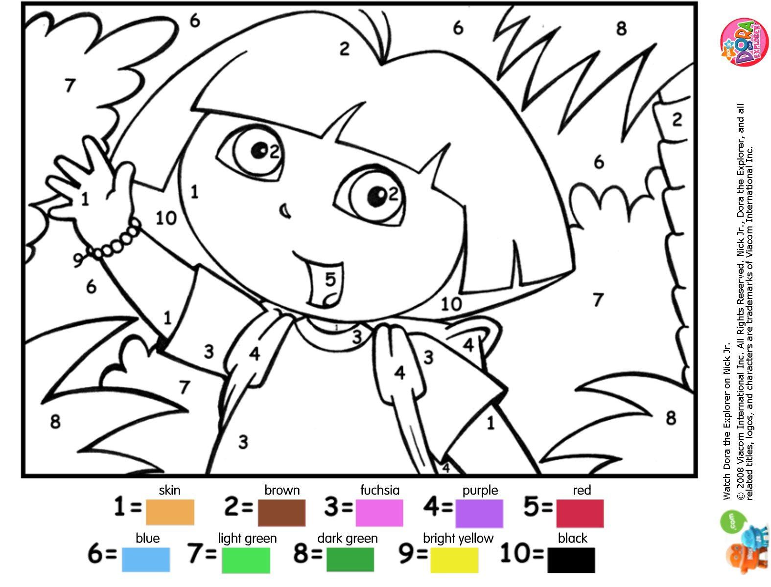 Coloriage À Dessiner Dora A Faire Sur L'ordinateur serapportantà Dessin À Colorier Sur L Ordinateur