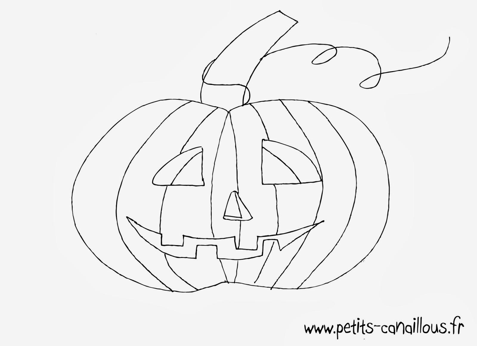 Coloriage À Imprimer Gratuit: Coloriage Citrouille Halloween dedans Dessin Halloween Citrouille A Imprimer Gratuit