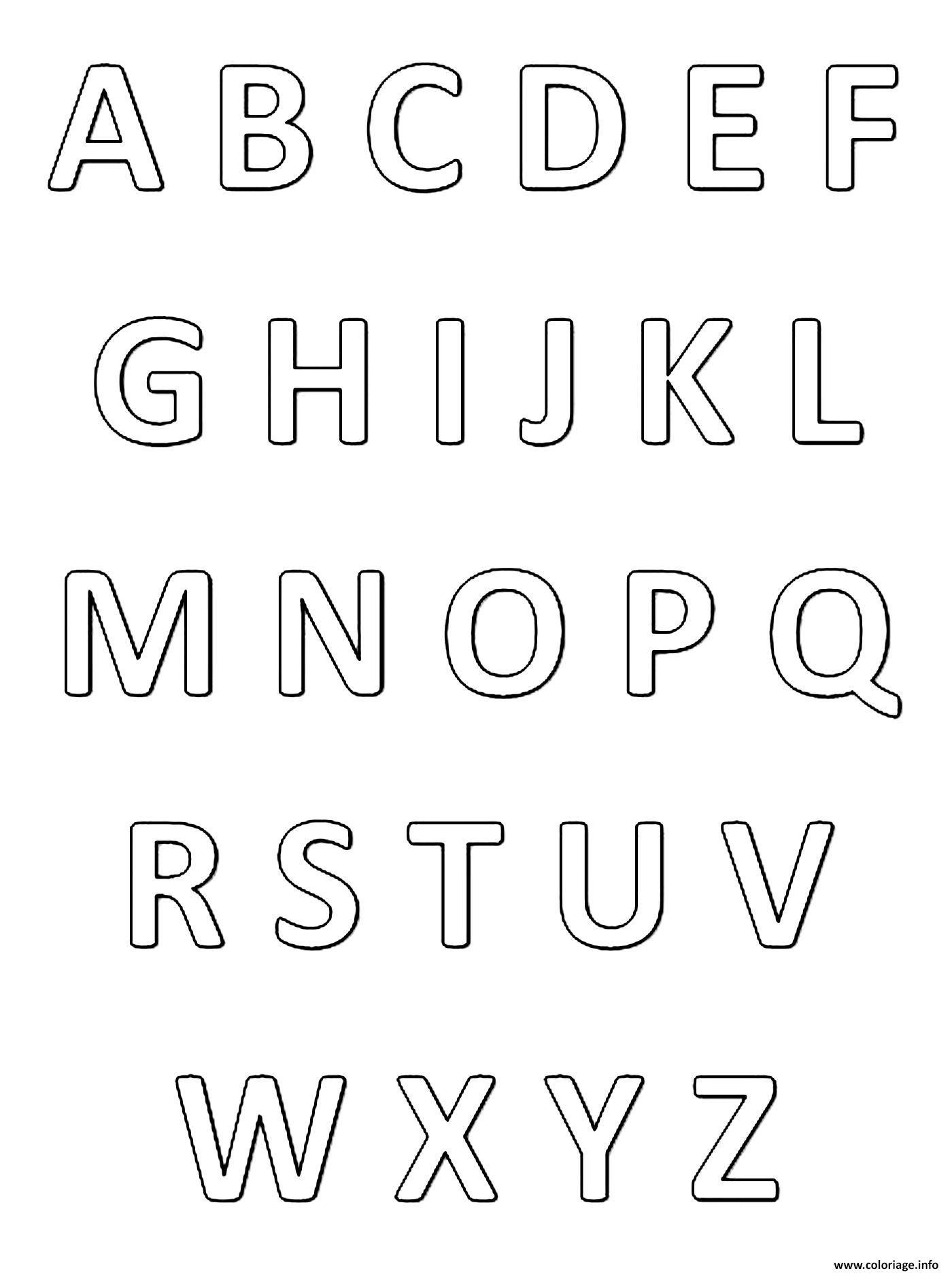 Coloriage Abecedaire Alphabet Et Lettres Francais Dessin concernant Alphabet À Colorier Maternelle