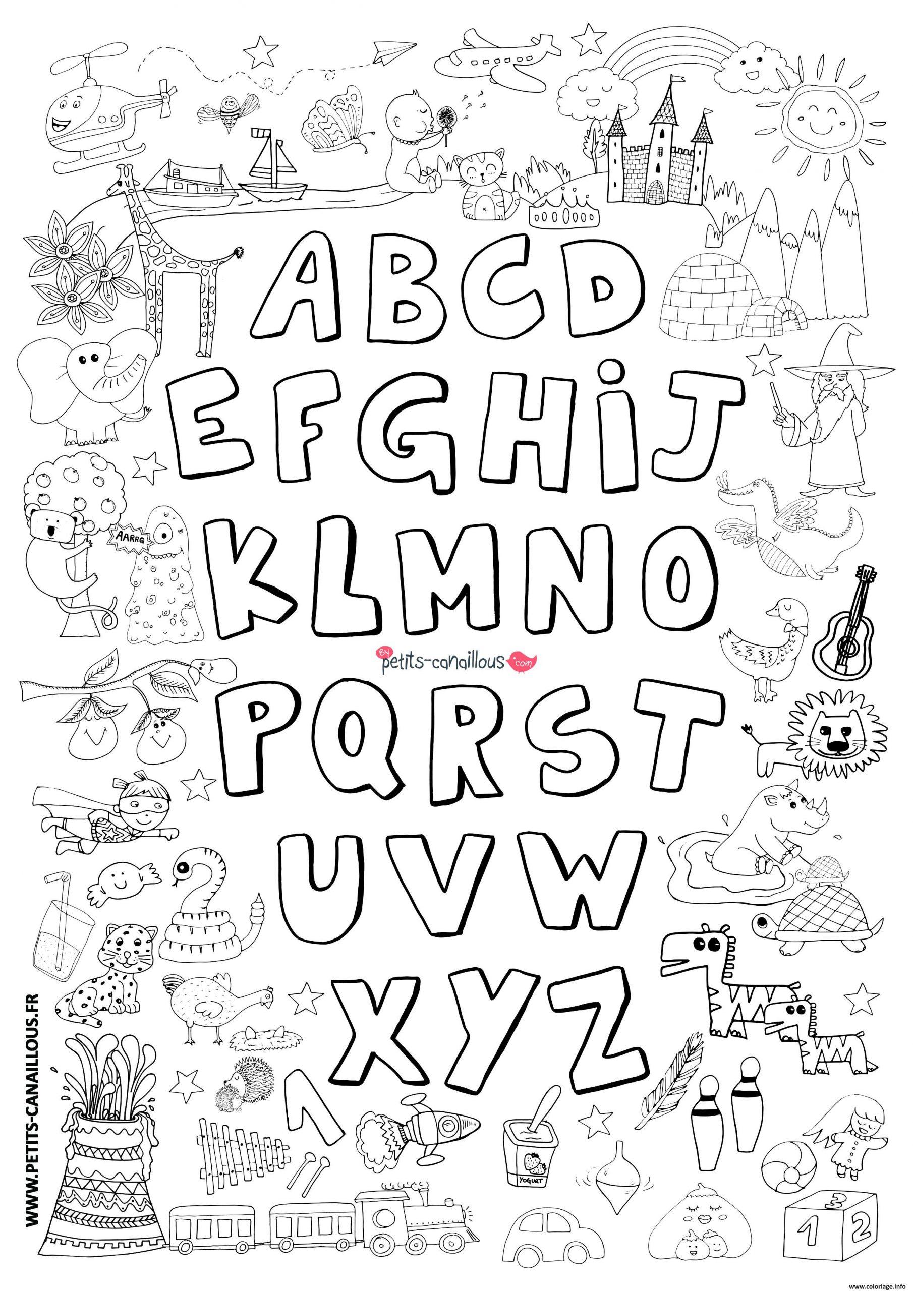 Coloriage Abecedaire Avec Dessins Dessin avec Coloriage Alphabet Complet A Imprimer