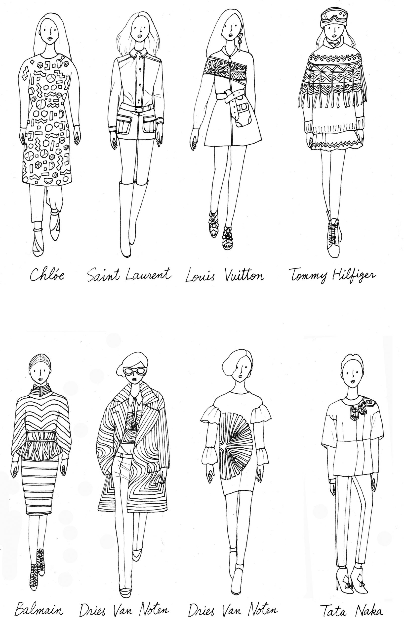 Coloriage Adulte Anti-Stress - Les Beaux Dessins De destiné Coloriage De Mode À Imprimer