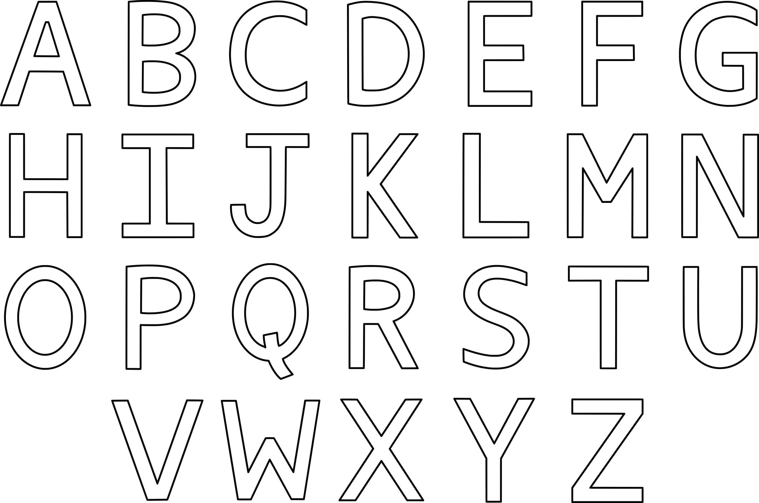 Coloriage Alphabet À Imprimer intérieur Coloriage D Alphabet