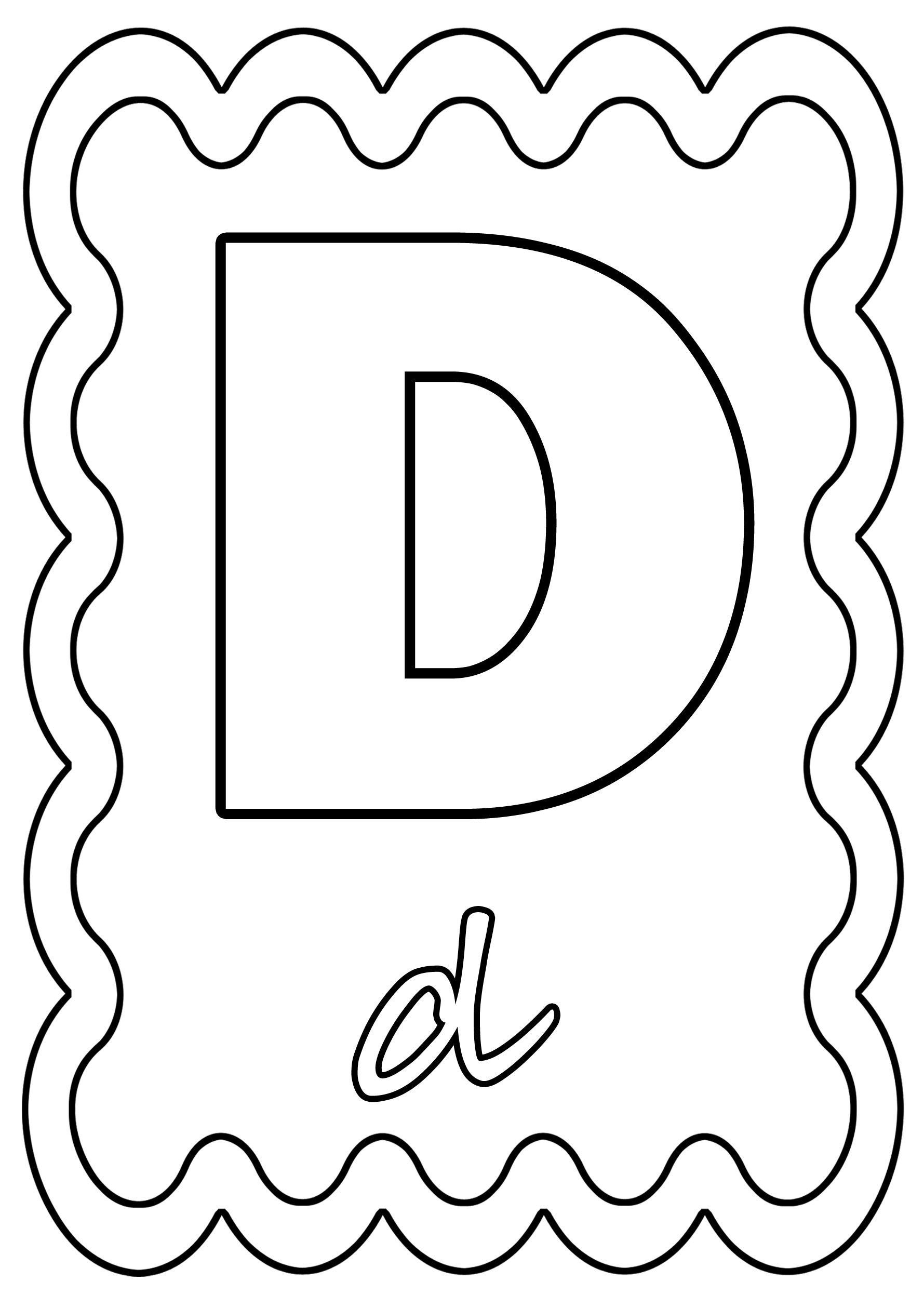 Coloriage Alphabet Lettre De A A Z à Coloriage D Alphabet