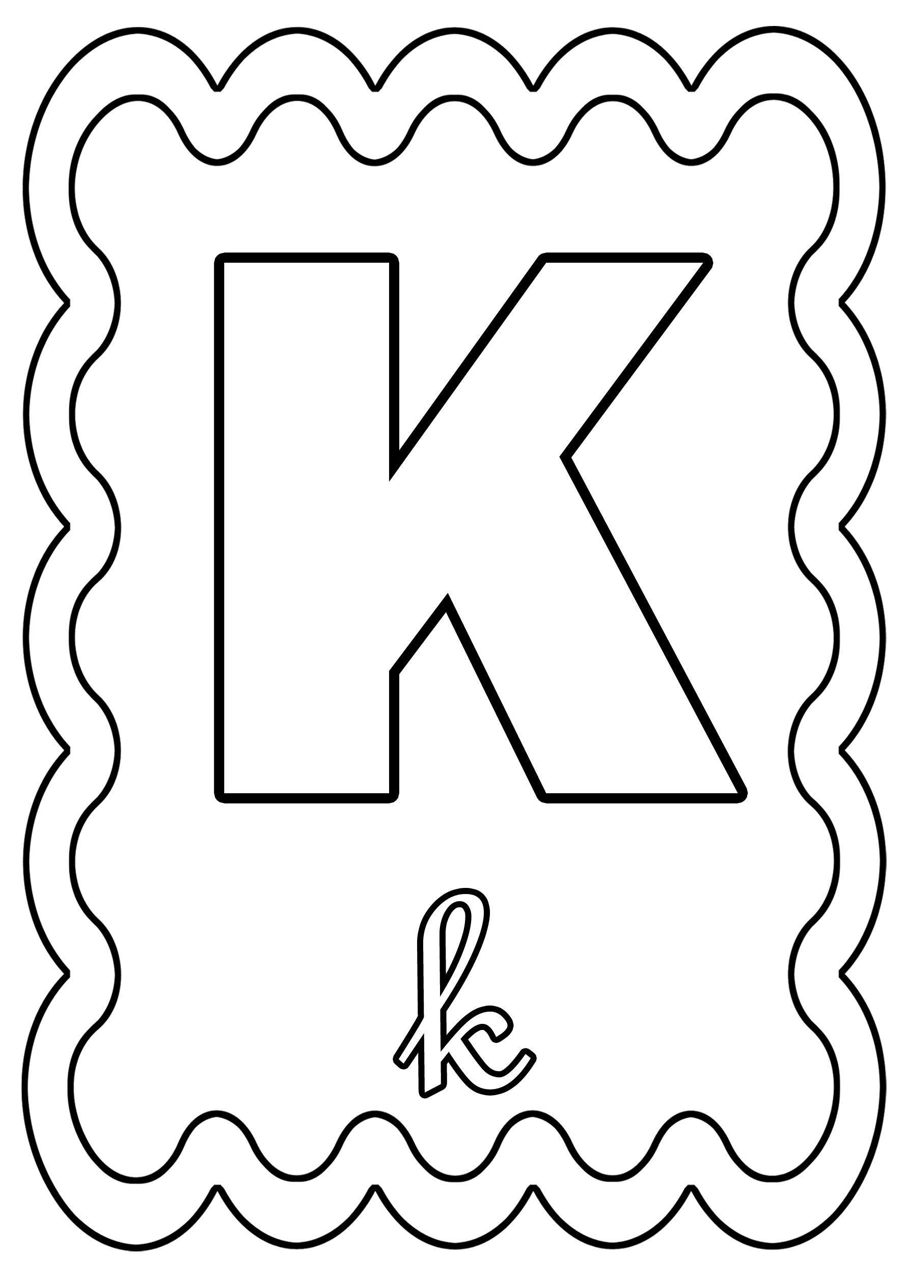Coloriage Alphabet Lettre De A A Z - Page 2 dedans Alphabet À Colorier Maternelle