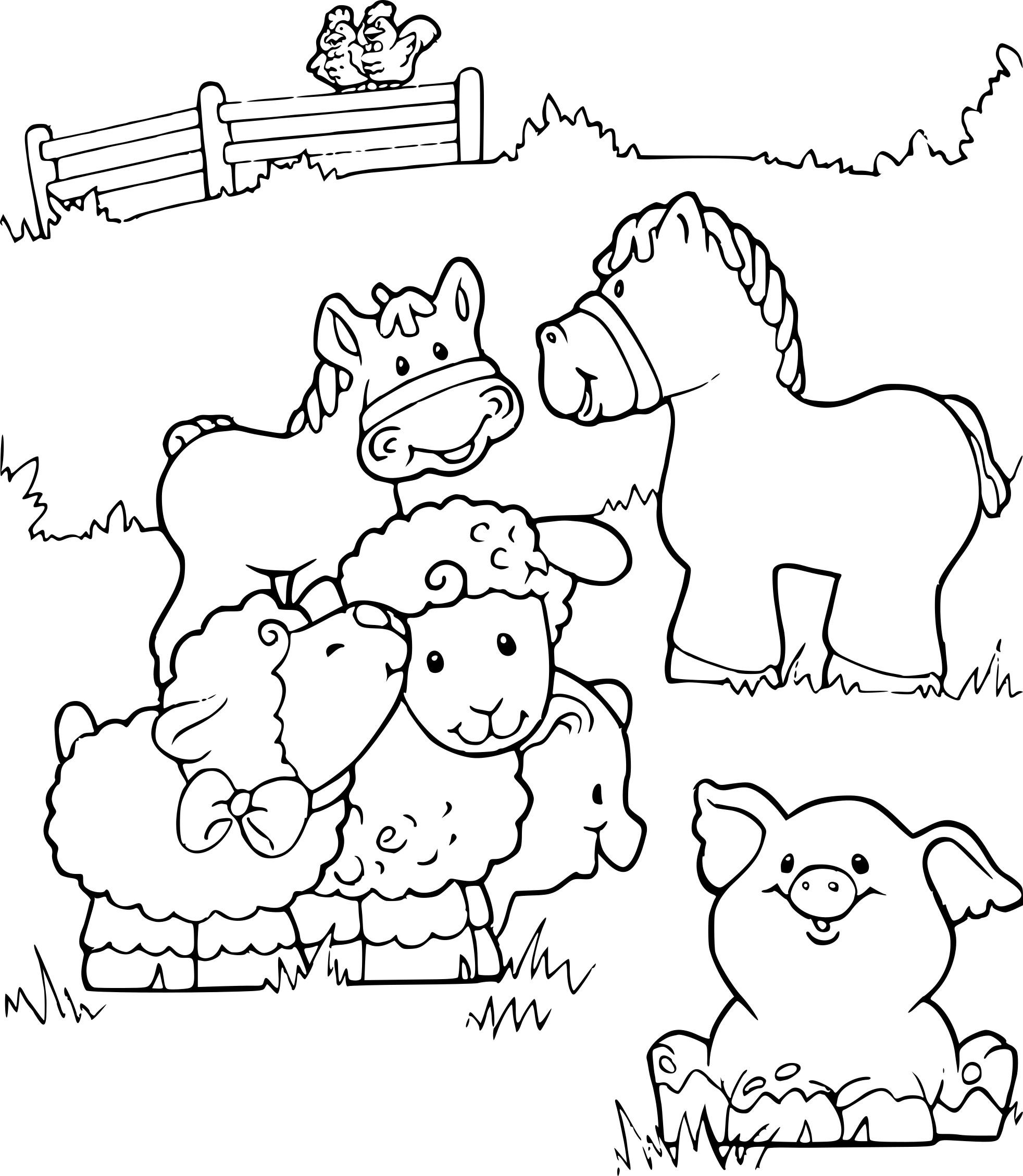 Coloriage Animaux De La Ferme À Imprimer Sur Coloriages à Animaux De La Ferme A Imprimer