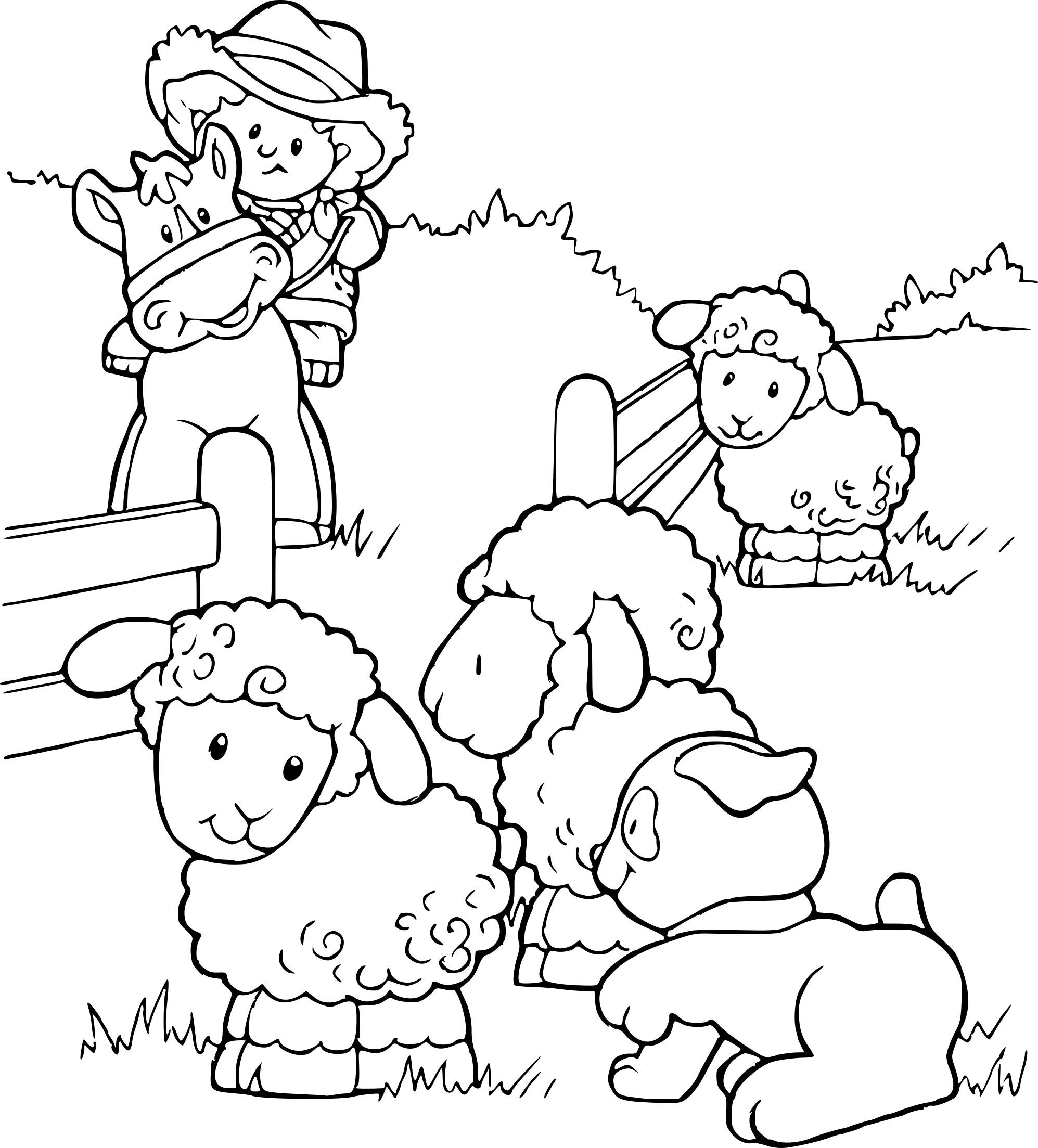 Coloriage Animaux De La Ferme Maternelle À Imprimer Sur serapportantà Animaux De La Ferme A Imprimer