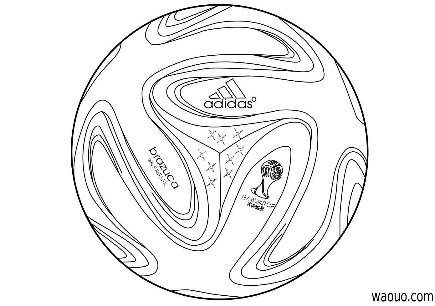 Coloriage Ballon Coupe Du Monde 2014 À Imprimer Et Colorier pour Coloriage De Foot En Ligne