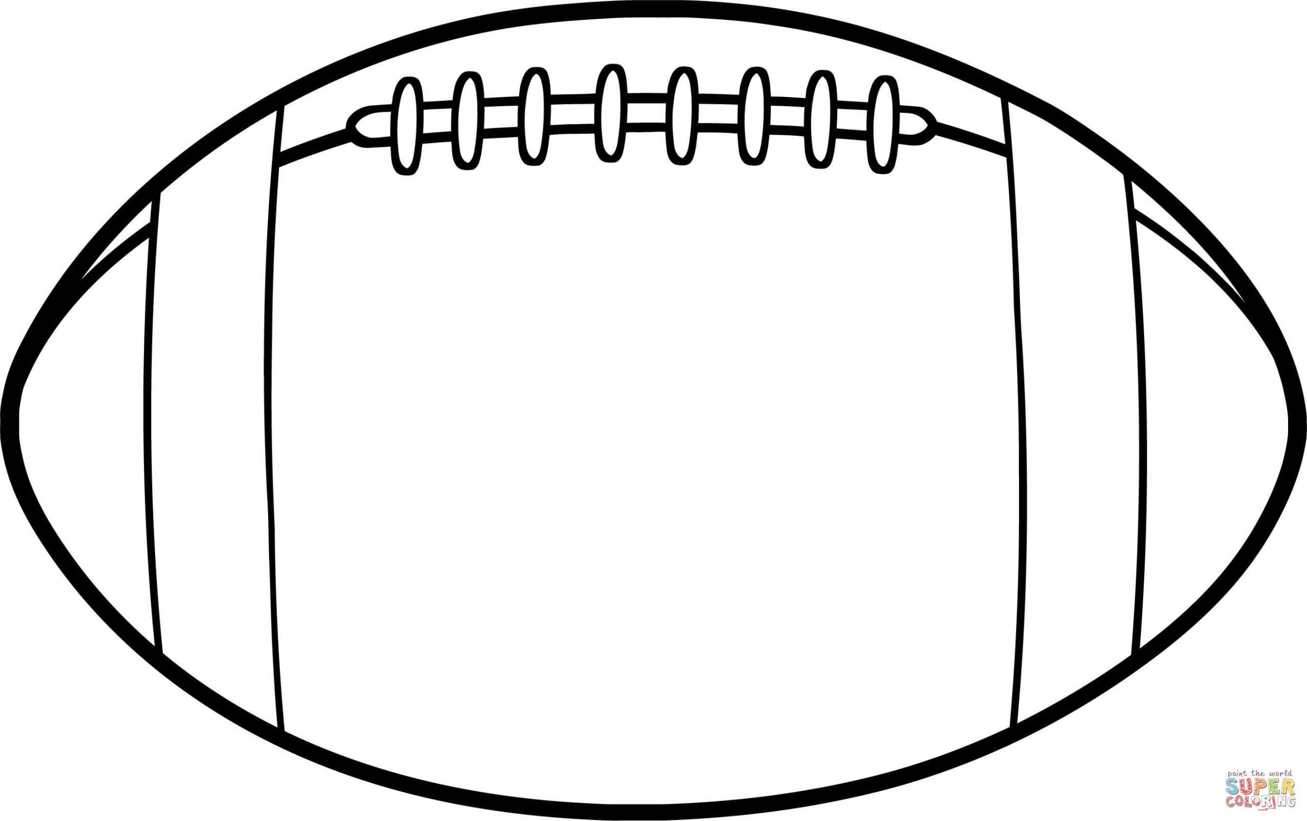 Coloriage - Ballon De Football Américain | Coloriages À destiné Coloriage De Foot En Ligne