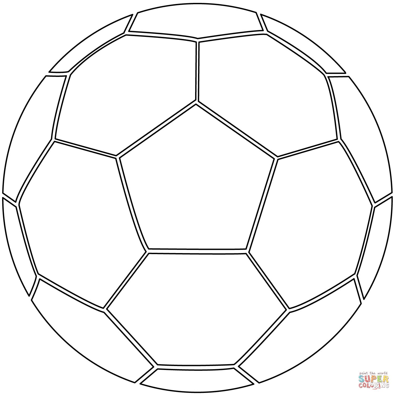 Coloriage - Ballon De Football | Coloriages À Imprimer Gratuits dedans Coloriage De Foot En Ligne