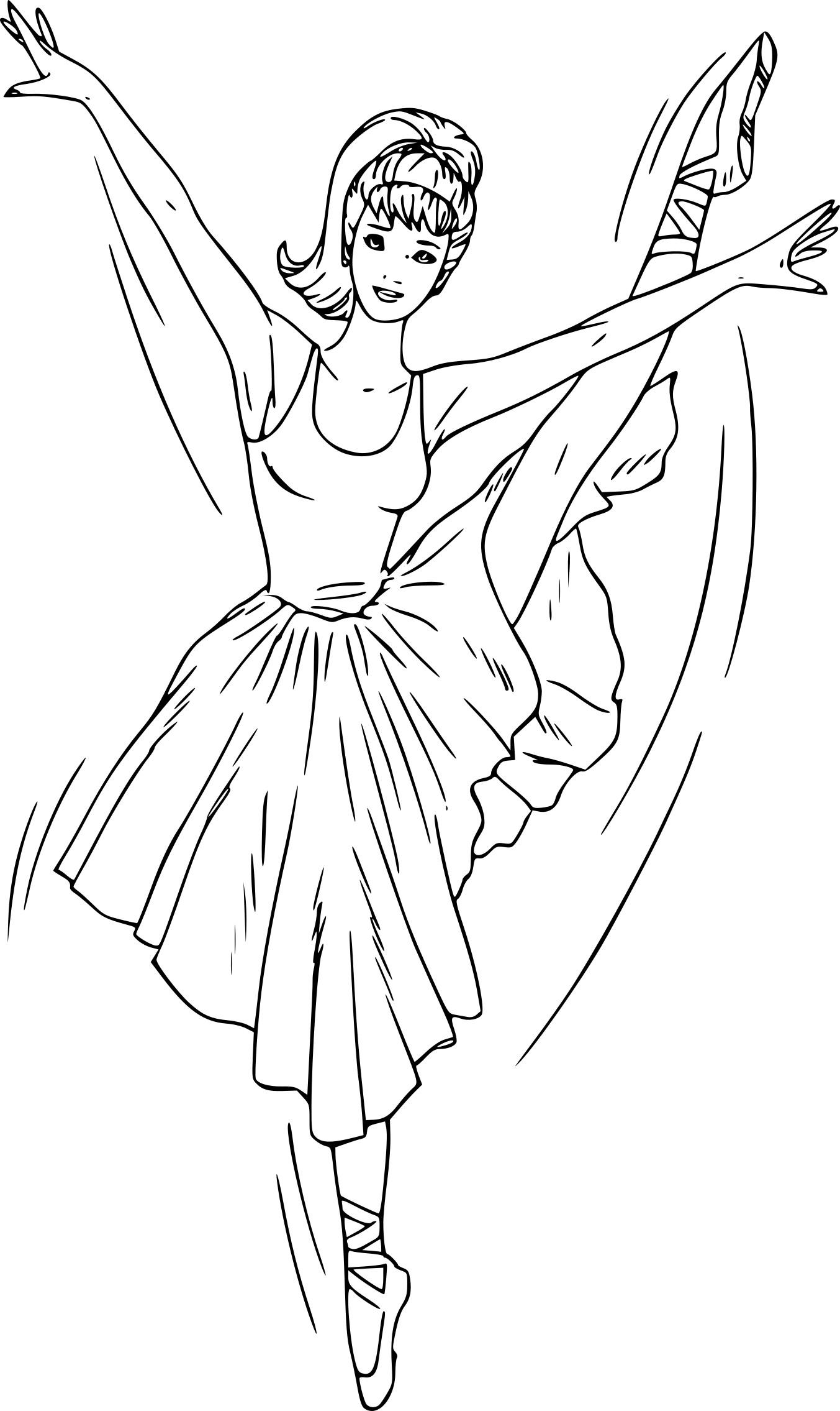Coloriage Barbie Danseuse Sur Coloriages À Imprimer 8Nop0Wk à Dessin De Danseuse A Imprimer