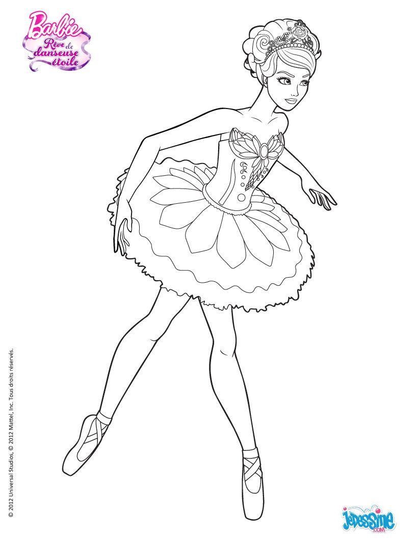 Coloriage Barbie : Kristyn À Colorier .hellokid concernant Dessin De Danseuse A Imprimer