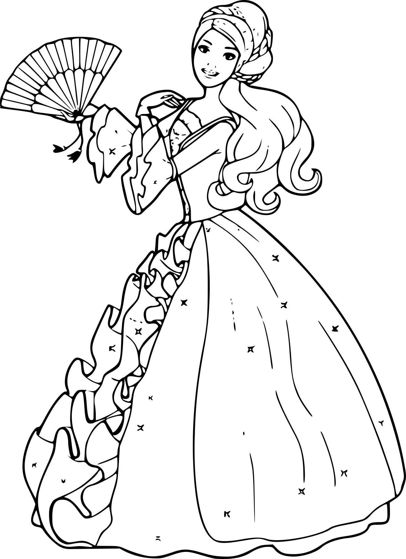 Coloriage Barbie Princesse À Imprimer Gratuit concernant Princesse À Colorier Gratuit