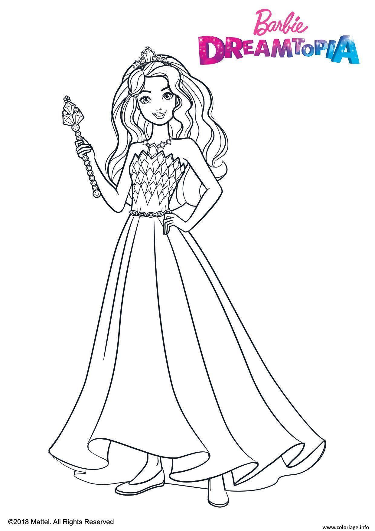 Coloriage Barbie Princesse Fille Dreamtopia Dessin tout Princesse À Colorier Gratuit
