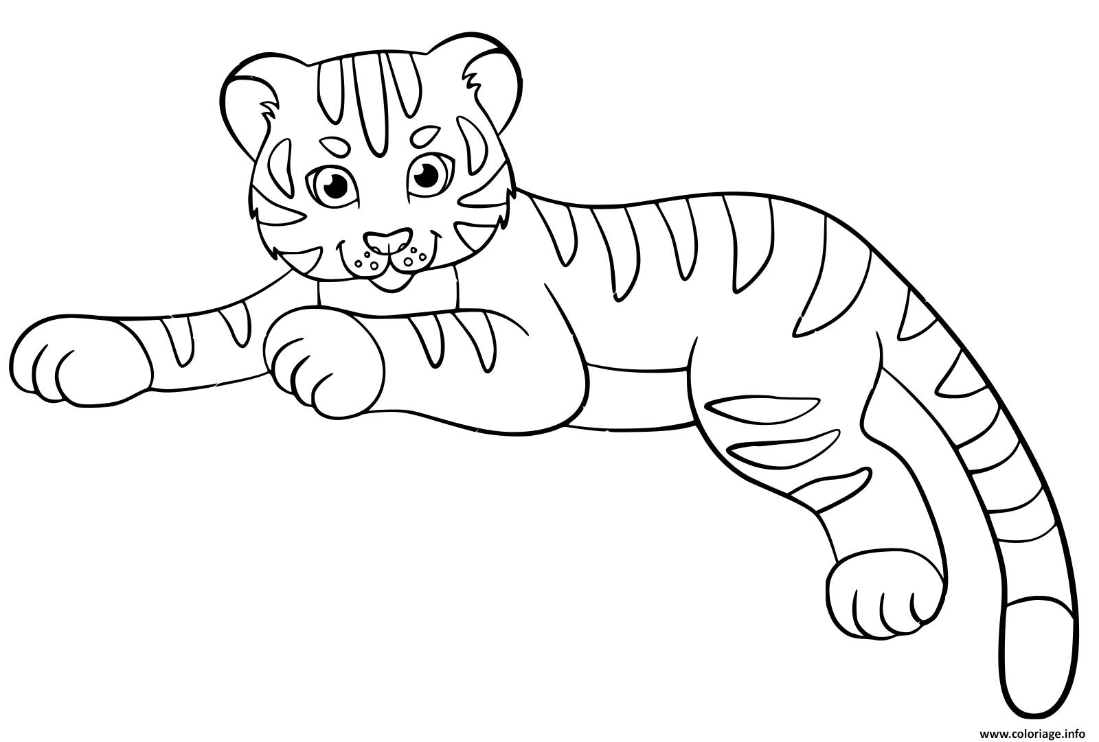 Coloriage Bebe Tigre Cute Enfants Dessin à Coloriage Bébé Tigre