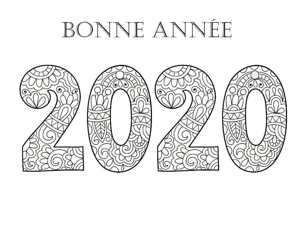 Coloriage Bonne Année. Imprimer En Ligne, 100 Images encequiconcerne Carte De Bonne Année Gratuite A Imprimer