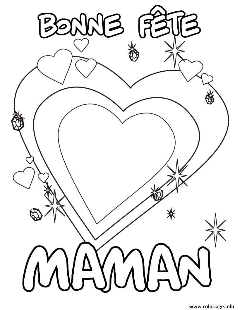 Coloriage Bonne Fete Maman Fete Des Meres 2017 Dessin tout Carte Bonne Fete Maman A Imprimer