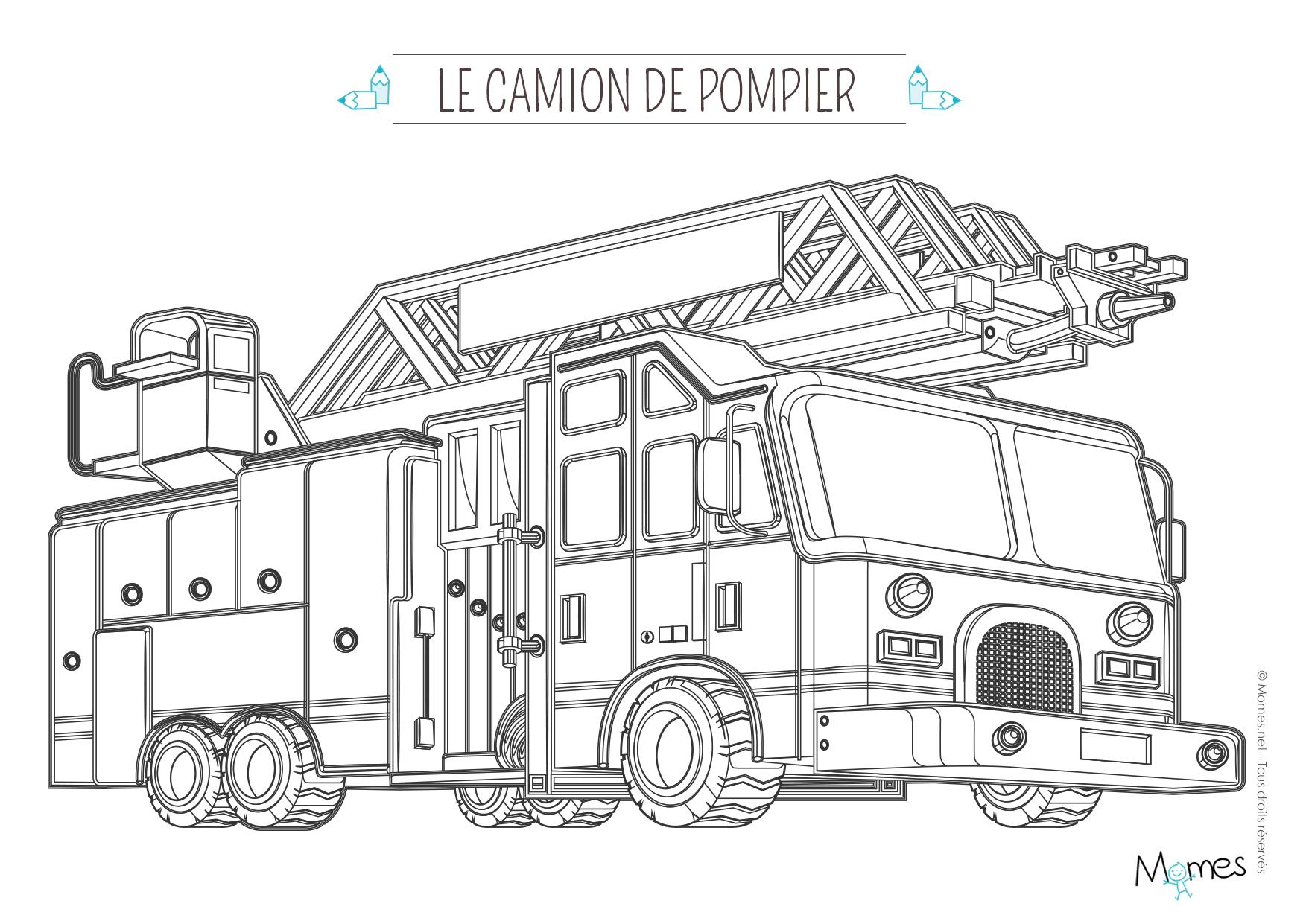 Coloriage Camion De Pompier A Imprimer Gratuit Archives à Coloriage Camion De Pompier Gratuit À Imprimer