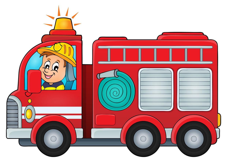 Coloriage Camion De Pompier Sur Hugolescargot à Jeu De Pompier Gratuit