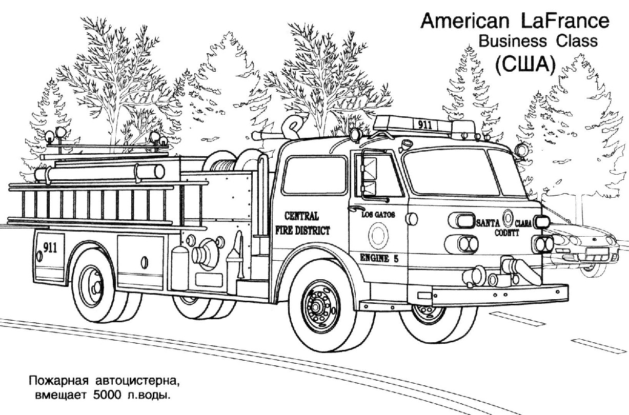 Coloriage Camion Pompier - Les Beaux Dessins De Transport À destiné Coloriage Camion De Pompier Gratuit À Imprimer