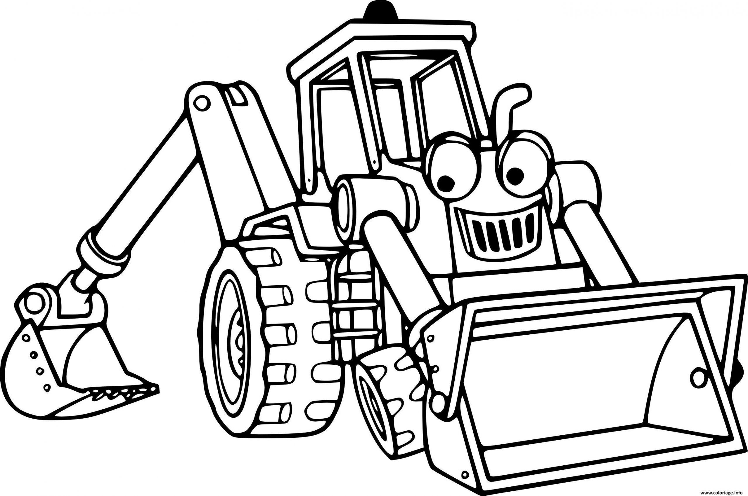 Coloriage Camion Tractopelle Combinant Un Chargeur Sur Pneus serapportantà Coloriage Camion De Pompier Gratuit À Imprimer