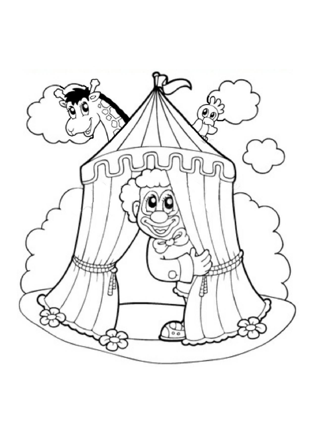 Coloriage Canrnaval encequiconcerne Coloriage Cirque Maternelle