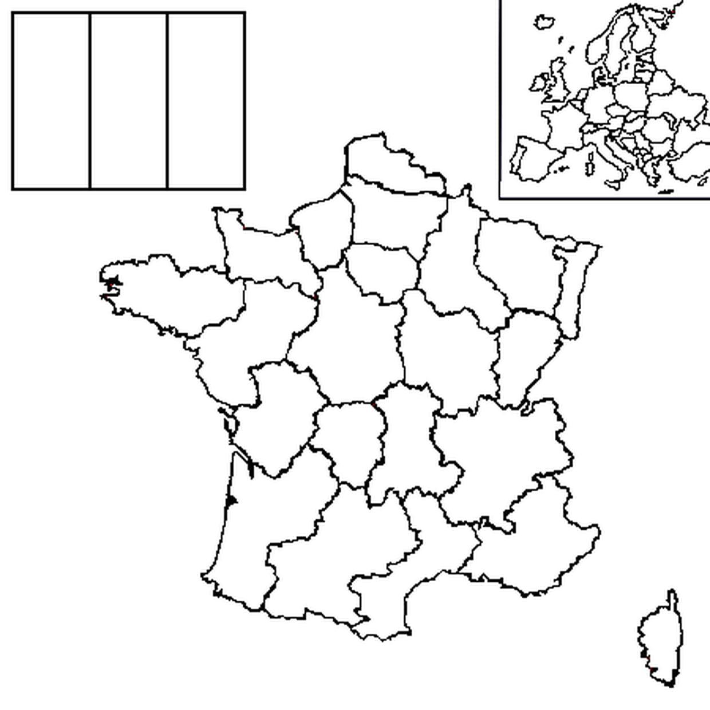 Coloriage Carte France En Ligne Gratuit À Imprimer dedans Carte De France Vierge A Imprimer