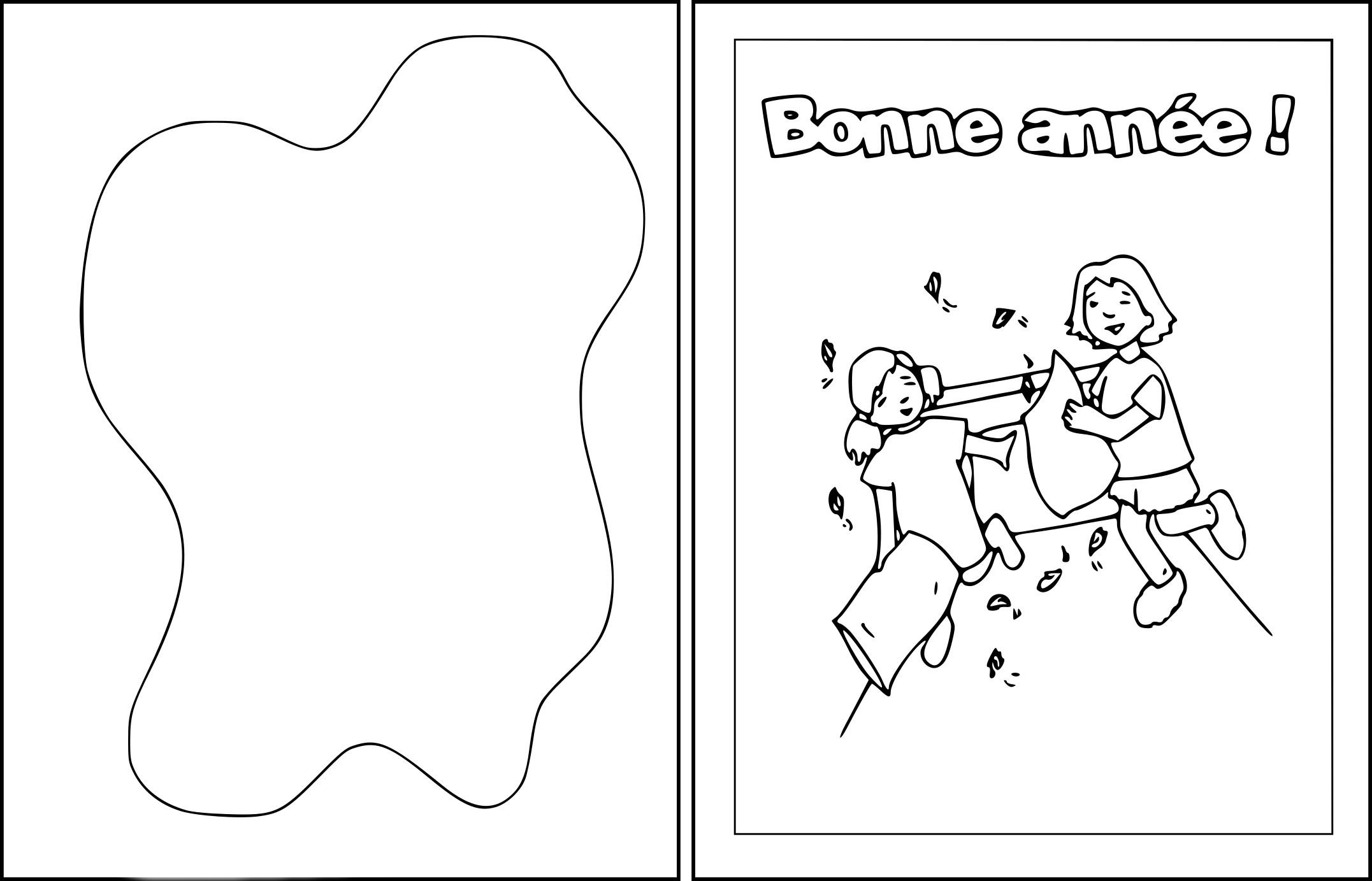 Coloriage Carte Voeux Bonne Année À Imprimer Sur Coloriages concernant Carte De Bonne Année Gratuite A Imprimer