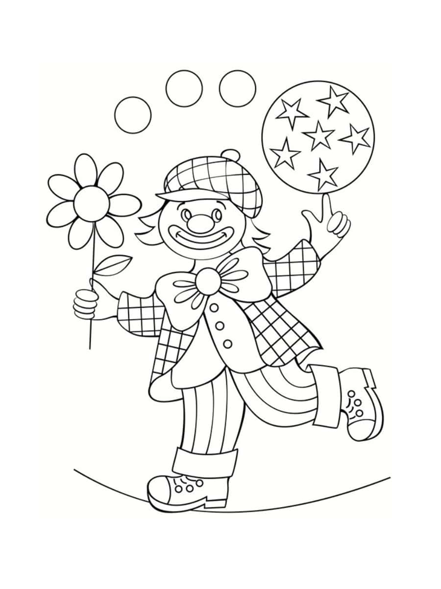 Coloriage Cirque : 28 Dessins À Imprimer Gratuitement encequiconcerne Coloriage Clown A Imprimer