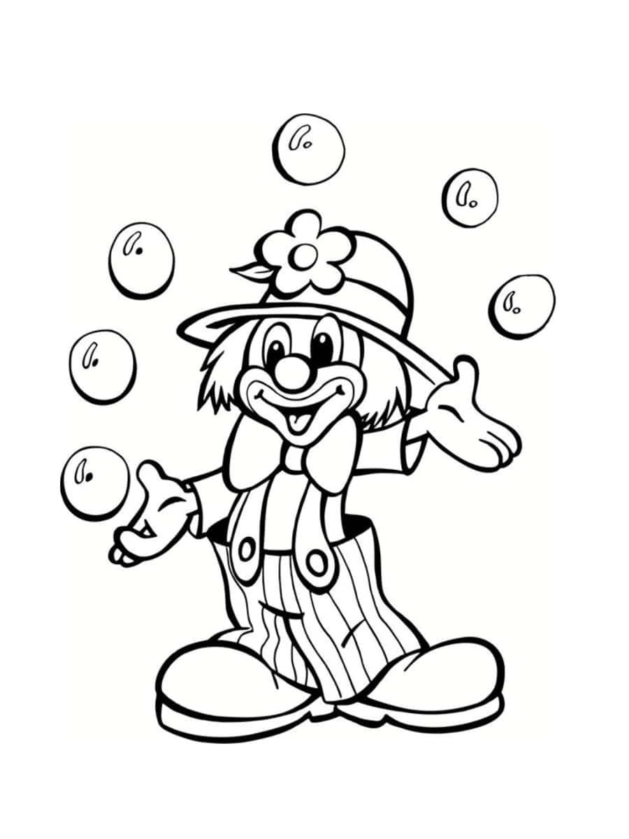 Coloriage Cirque : 28 Dessins À Imprimer Gratuitement tout Coloriage Tete De Clown
