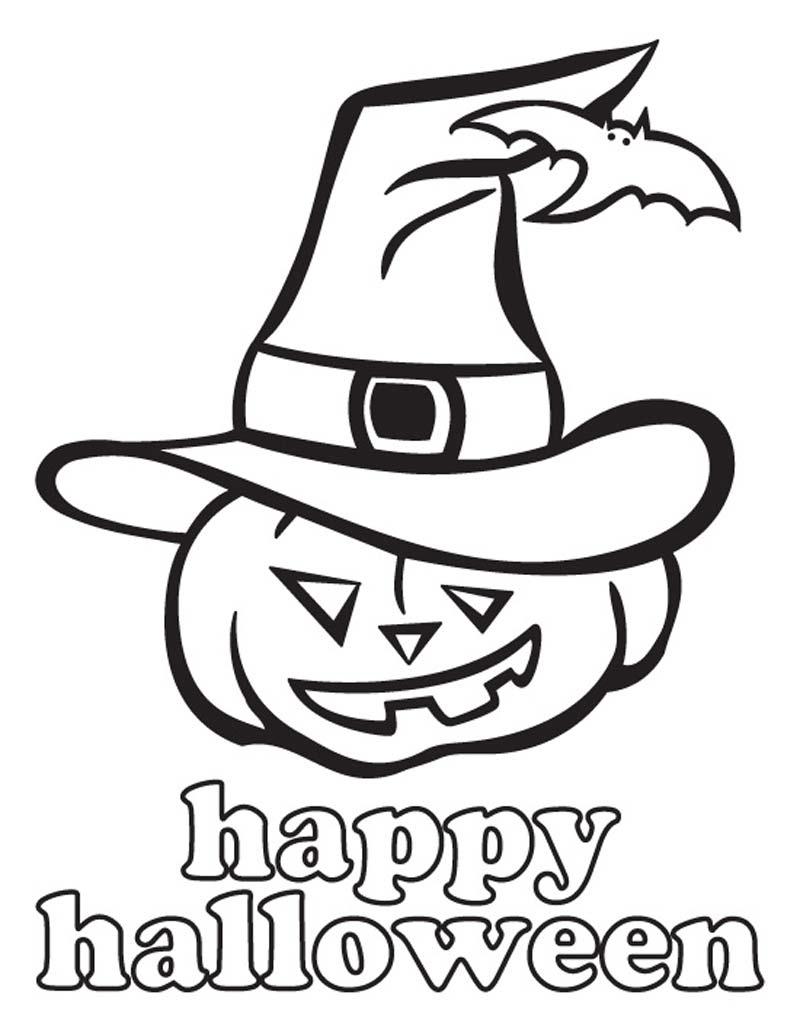 Coloriage Citrouille Chapeau Gratuit À Imprimer pour Dessin Halloween Citrouille A Imprimer Gratuit