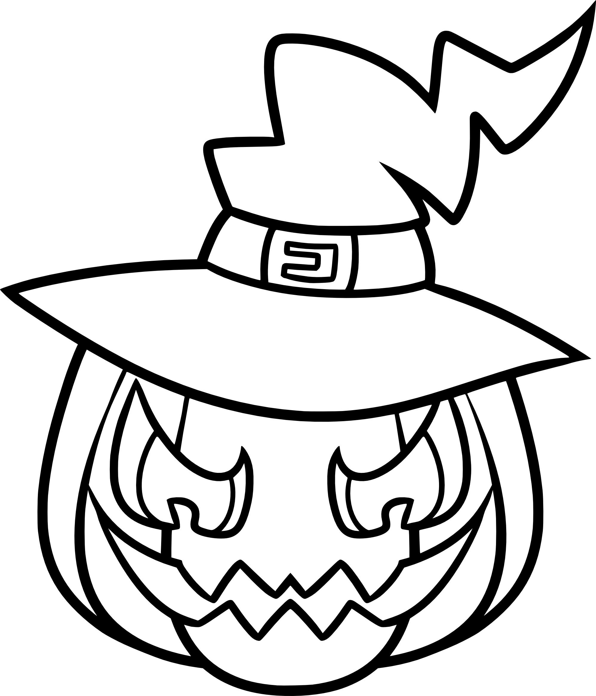 Coloriage Citrouille Effrayante À Imprimer serapportantà Dessin Halloween Citrouille A Imprimer Gratuit