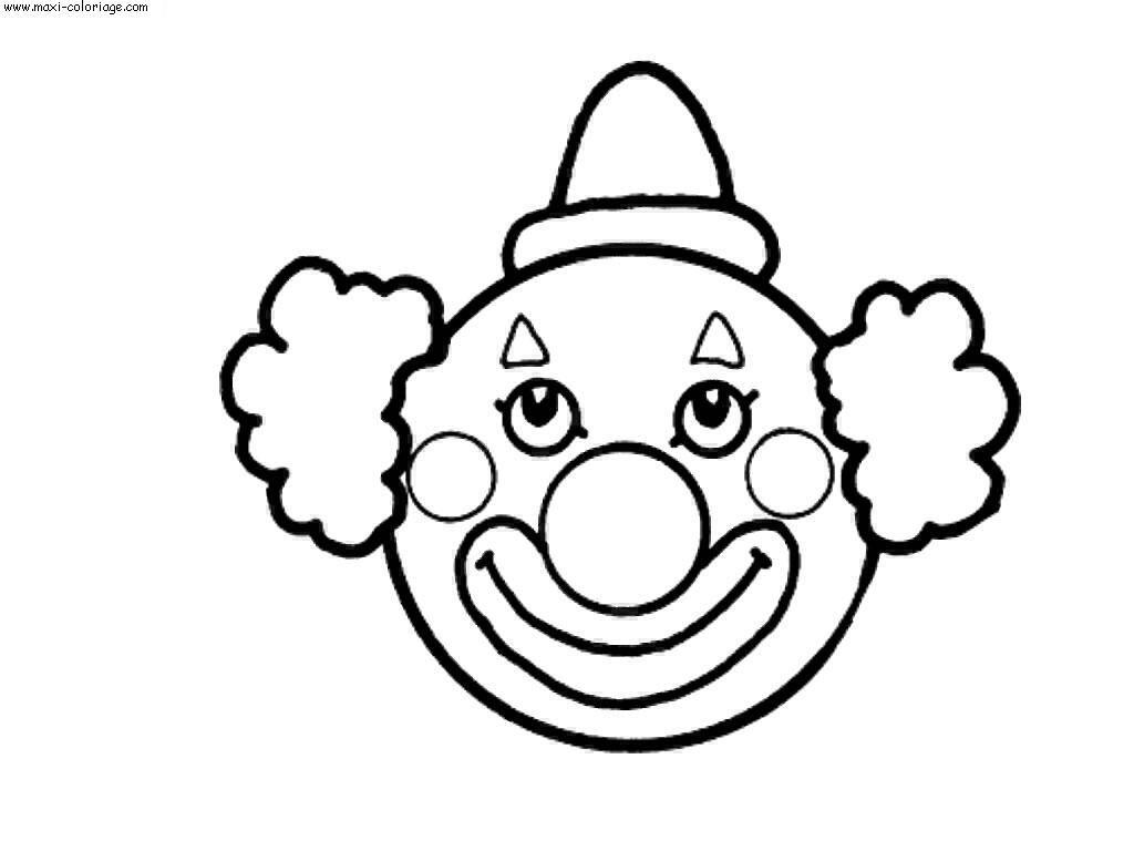 Coloriage Clown À Imprimer Pour Les Enfants - Cp08206 dedans Coloriage Tete De Clown