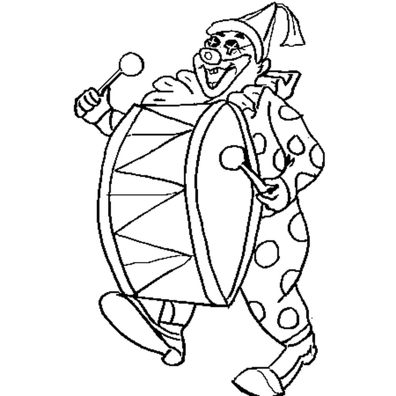 Coloriage Clown Carnaval En Ligne Gratuit À Imprimer serapportantà Coloriage Clown A Imprimer