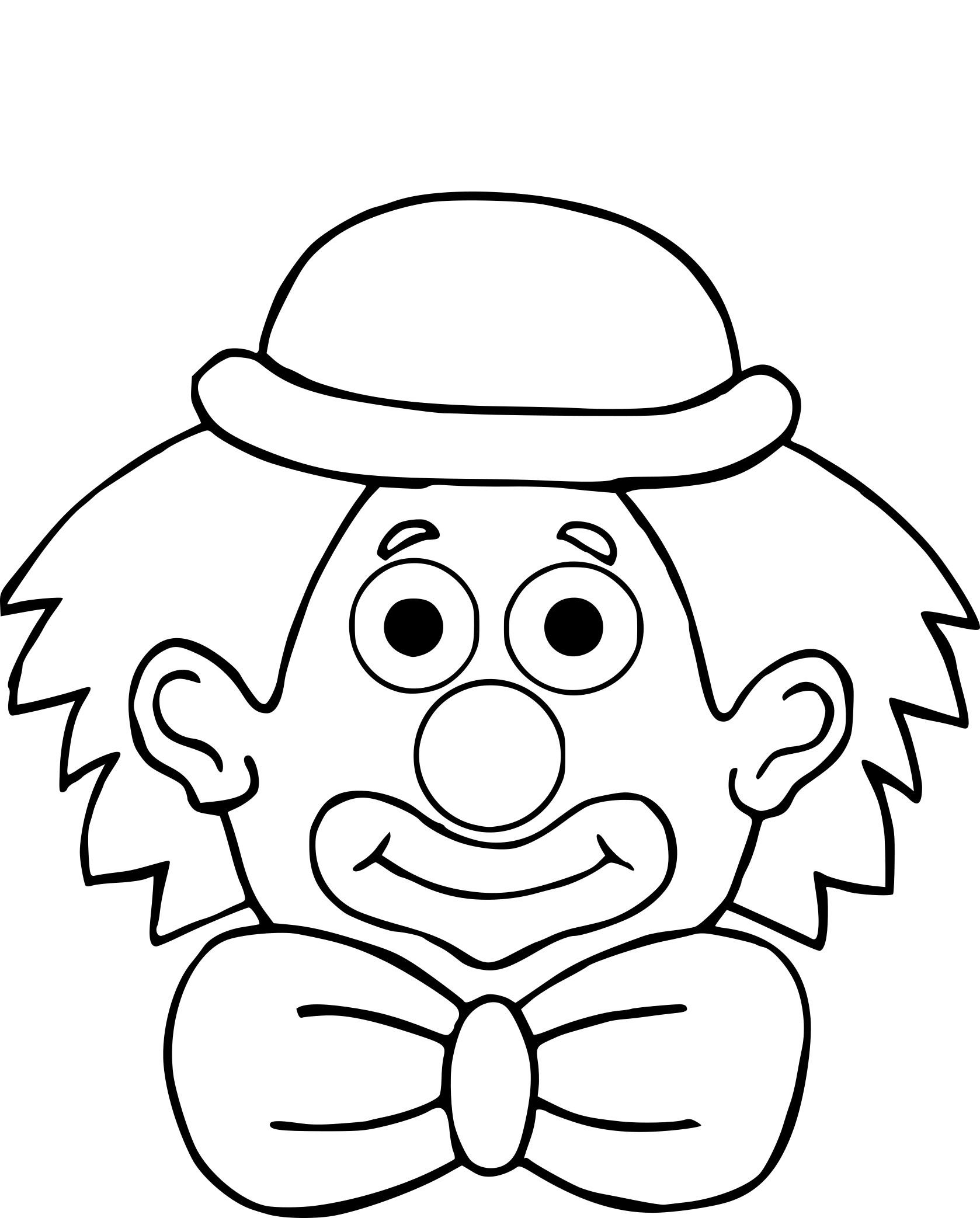 Coloriage Clown Chapeau À Imprimer Sur Coloriages avec Coloriage Tete De Clown