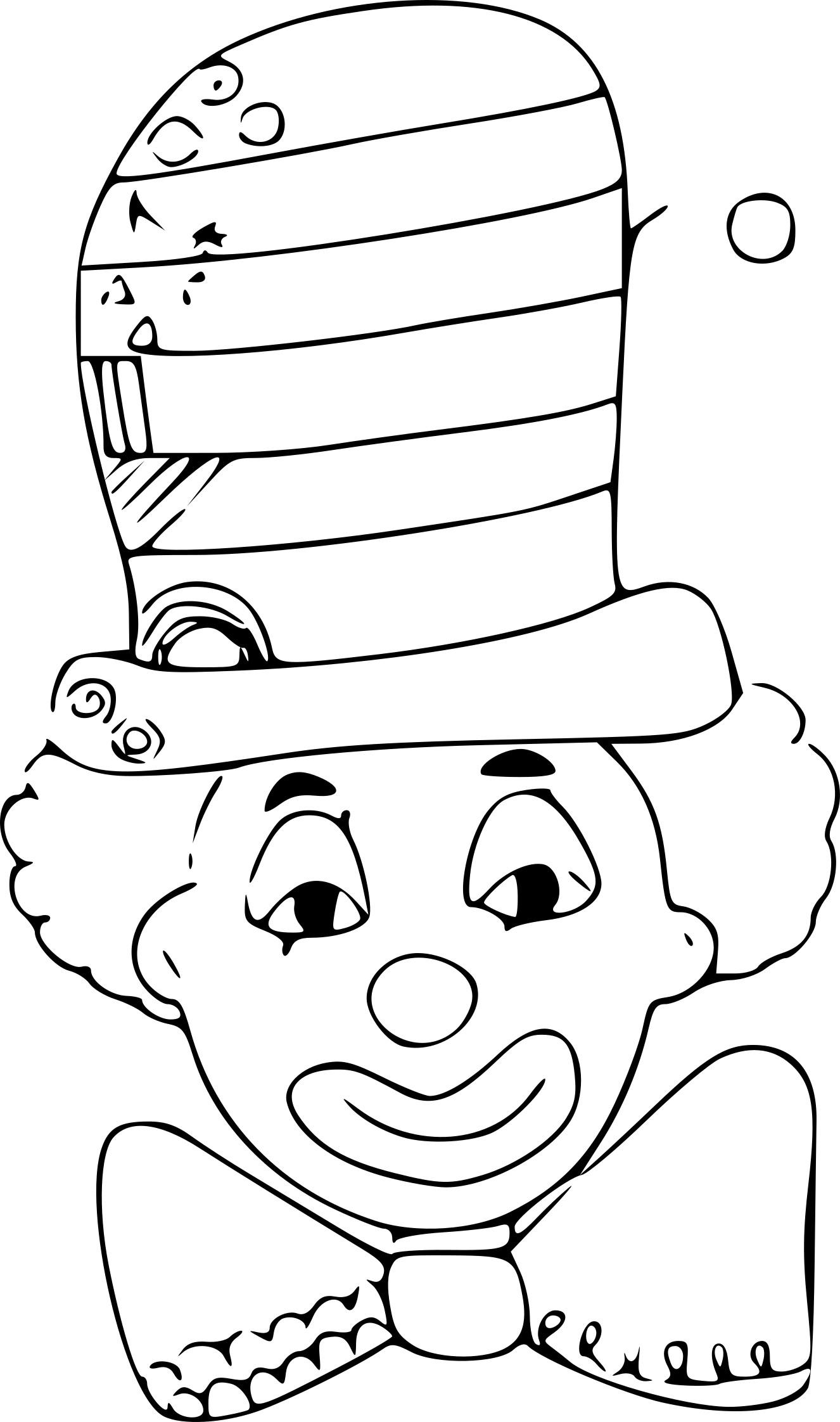 Coloriage Clown Chapeau Dessin À Imprimer Sur Coloriages concernant Coloriage Tete De Clown