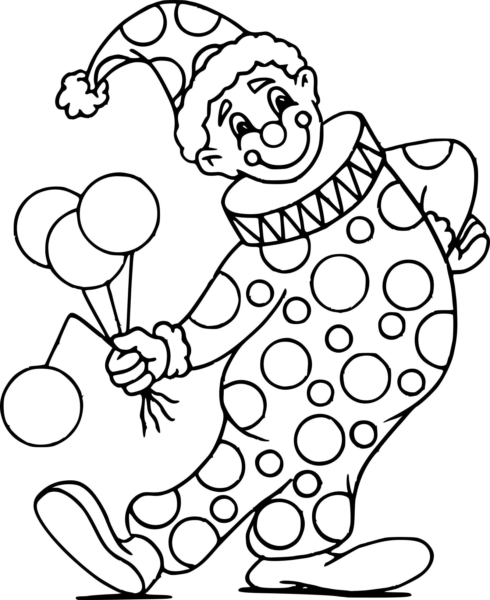Coloriage Clown Cirque Dessin À Imprimer Sur Coloriages intérieur Coloriage Clown A Imprimer