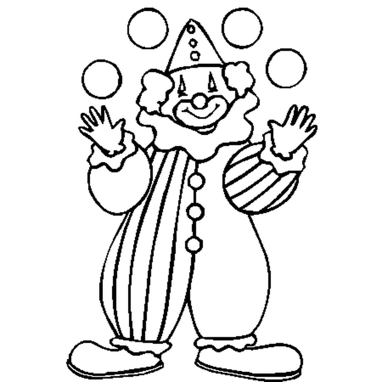 Coloriage Clown En Ligne Gratuit À Imprimer intérieur Coloriage Cirque Maternelle