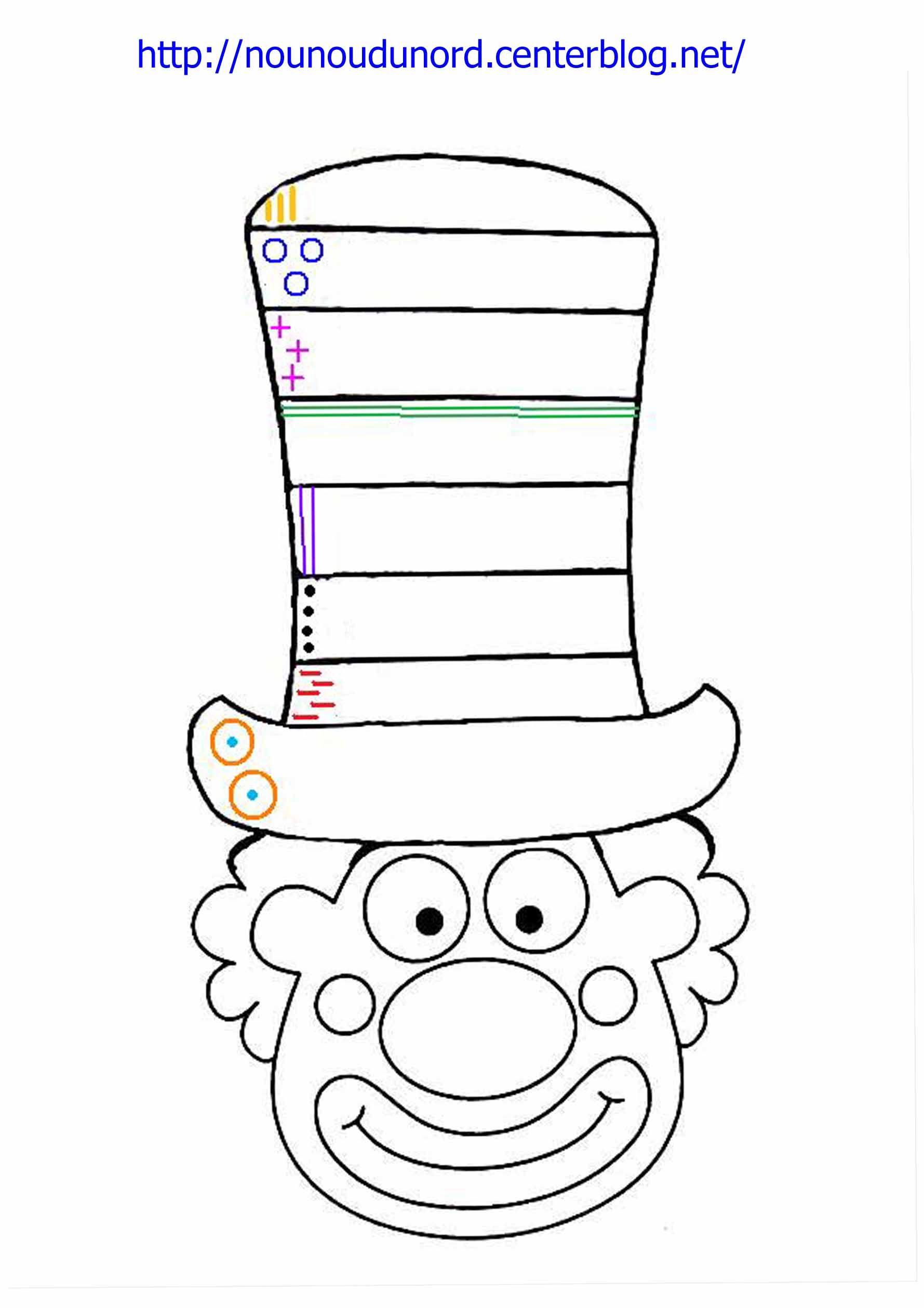 Coloriage Clown Excercice Sur Le Chapeau À Imprimer à Coloriage Clown A Imprimer