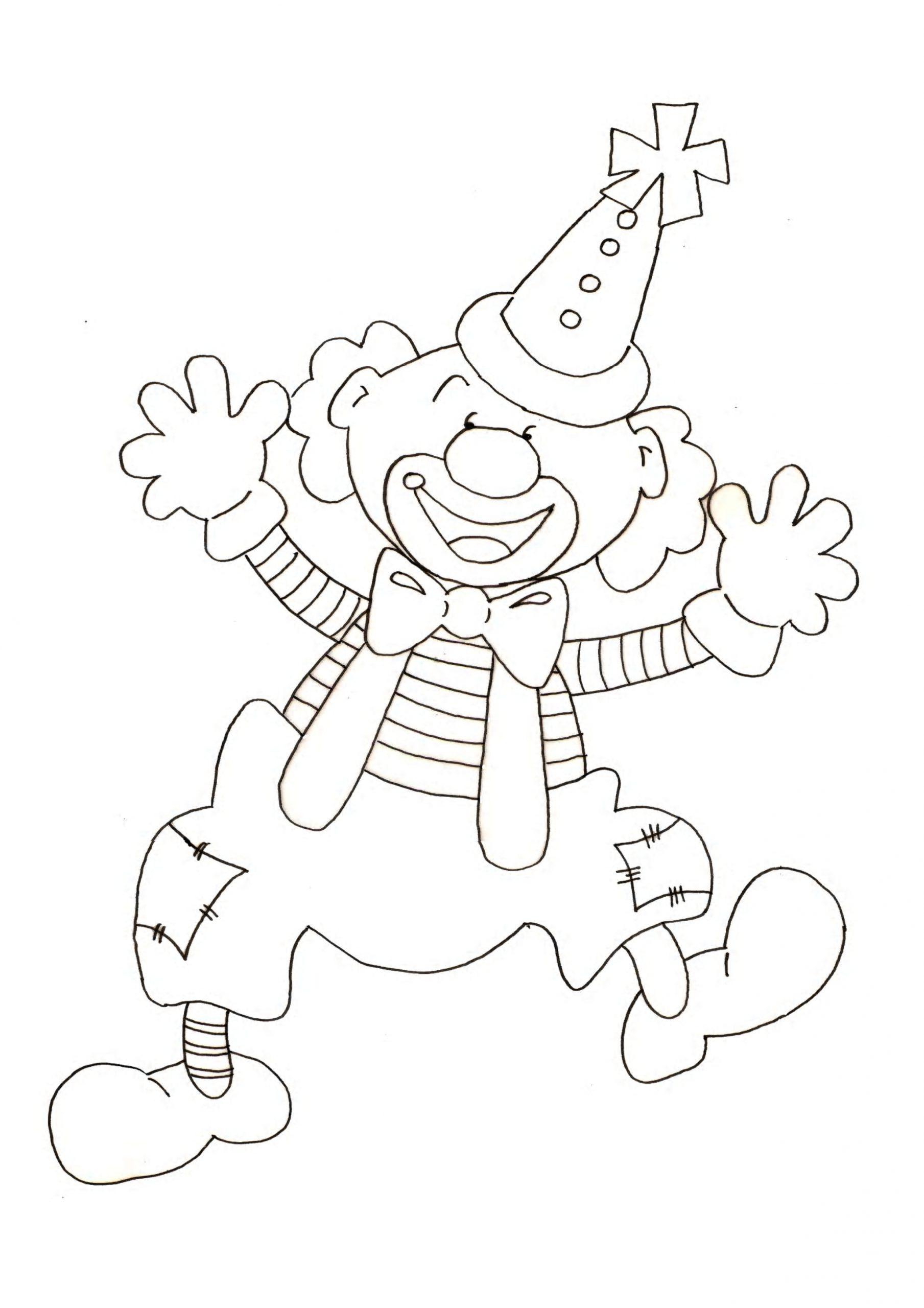 Coloriage Clown Gentil À Imprimer Sur Coloriages à Coloriage Clown A Imprimer