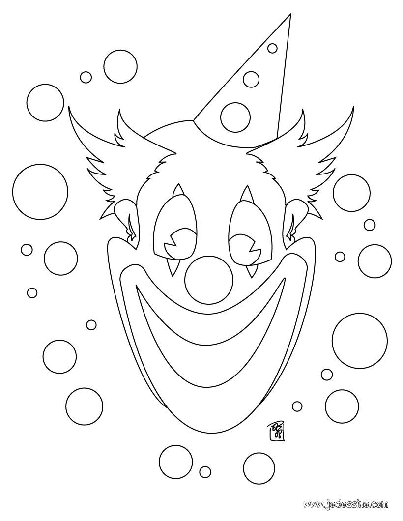 Coloriage Clown - Les Beaux Dessins De Personnages À destiné Coloriage Clown A Imprimer