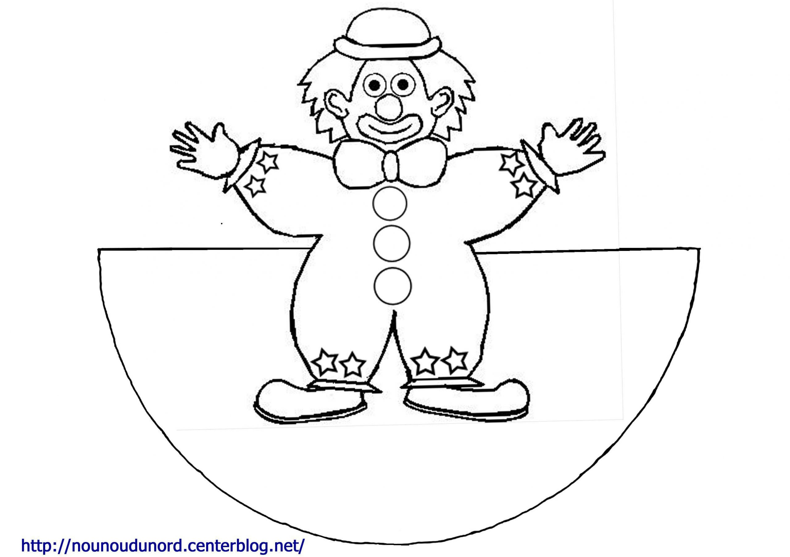 Coloriage Clown tout Coloriage Clown A Imprimer