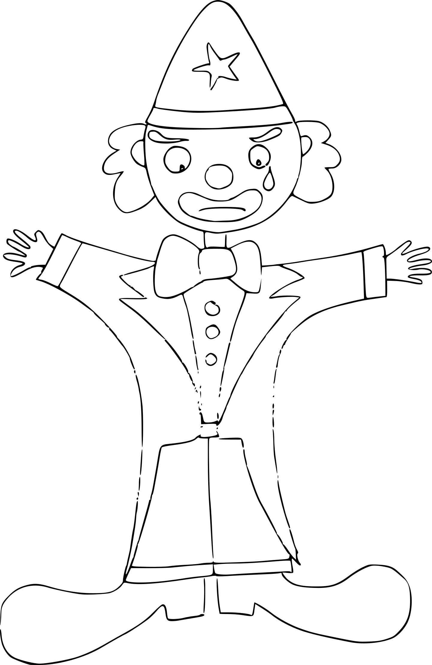 Coloriage Clown Triste À Imprimer Sur Coloriages destiné Coloriage Tete De Clown