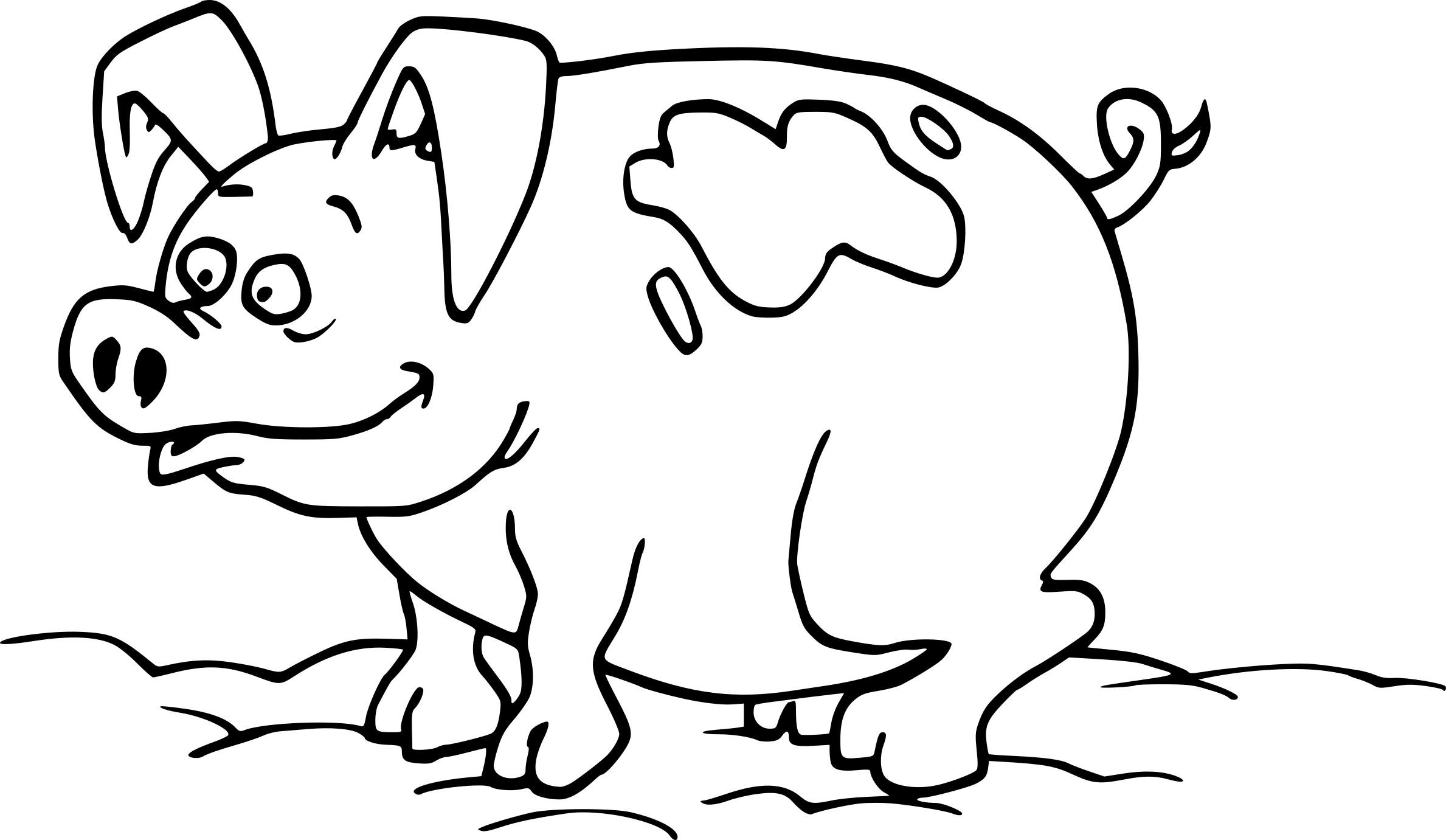 Coloriage Cochon Boue À Imprimer Sur Coloriages encequiconcerne Dessin À Colorier Cochon