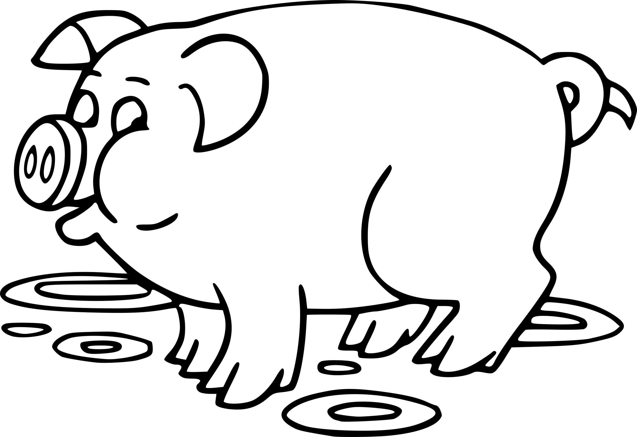 Coloriage Cochon Dessin À Imprimer Sur Coloriages à Dessin À Colorier Cochon