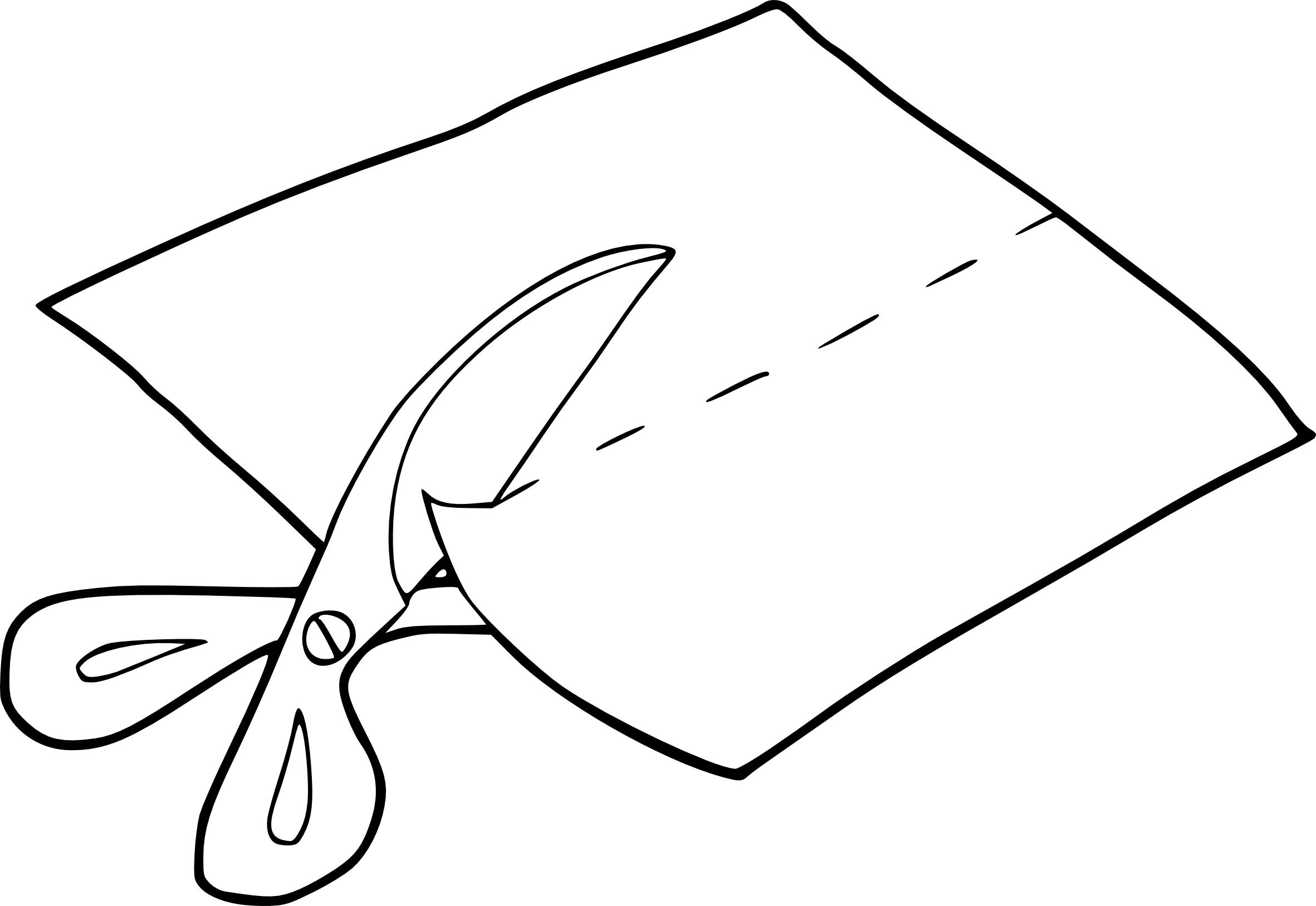 Coloriage Couper Une Feuille De Papier À Imprimer à Feuille A Colorier