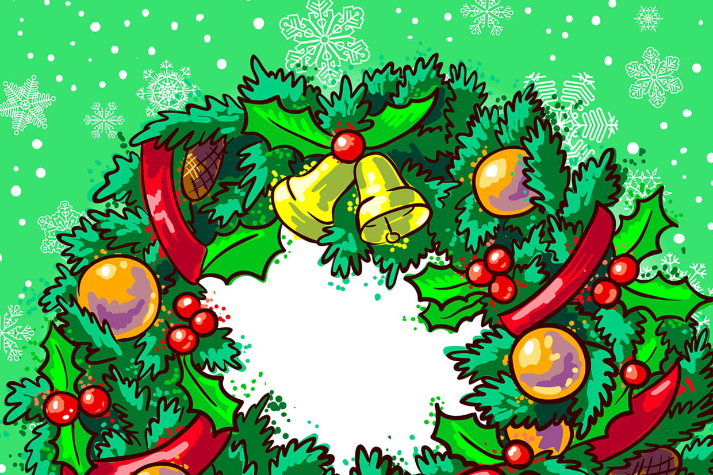 Coloriage Couronnes De Noël Sur Hugolescargot à Dessin De Noel En Couleur A Imprimer