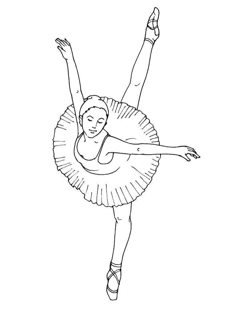 Coloriage Danseuse 14 - Coloriage Danseuses - Coloriages Metiers dedans Dessin De Danseuse A Imprimer