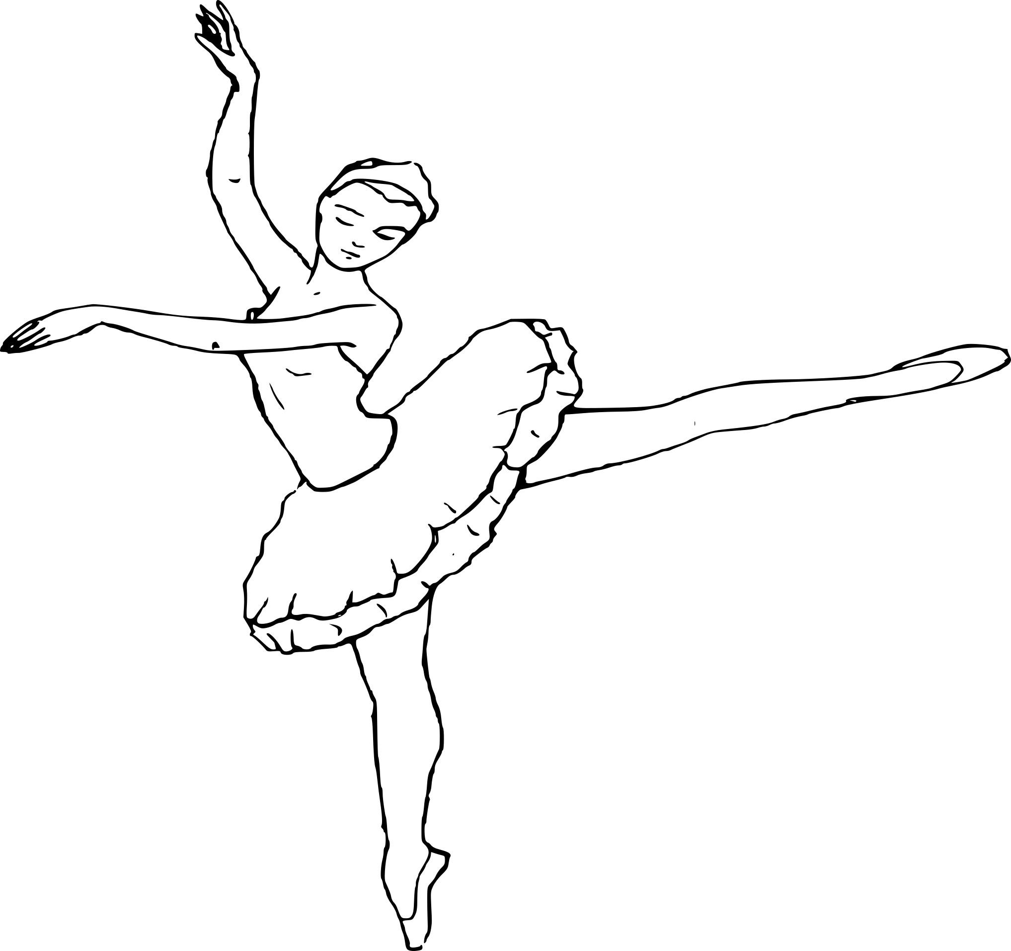 Coloriage Danseuse Avec Des Ballerines À Imprimer Sur destiné Dessin De Danseuse A Imprimer