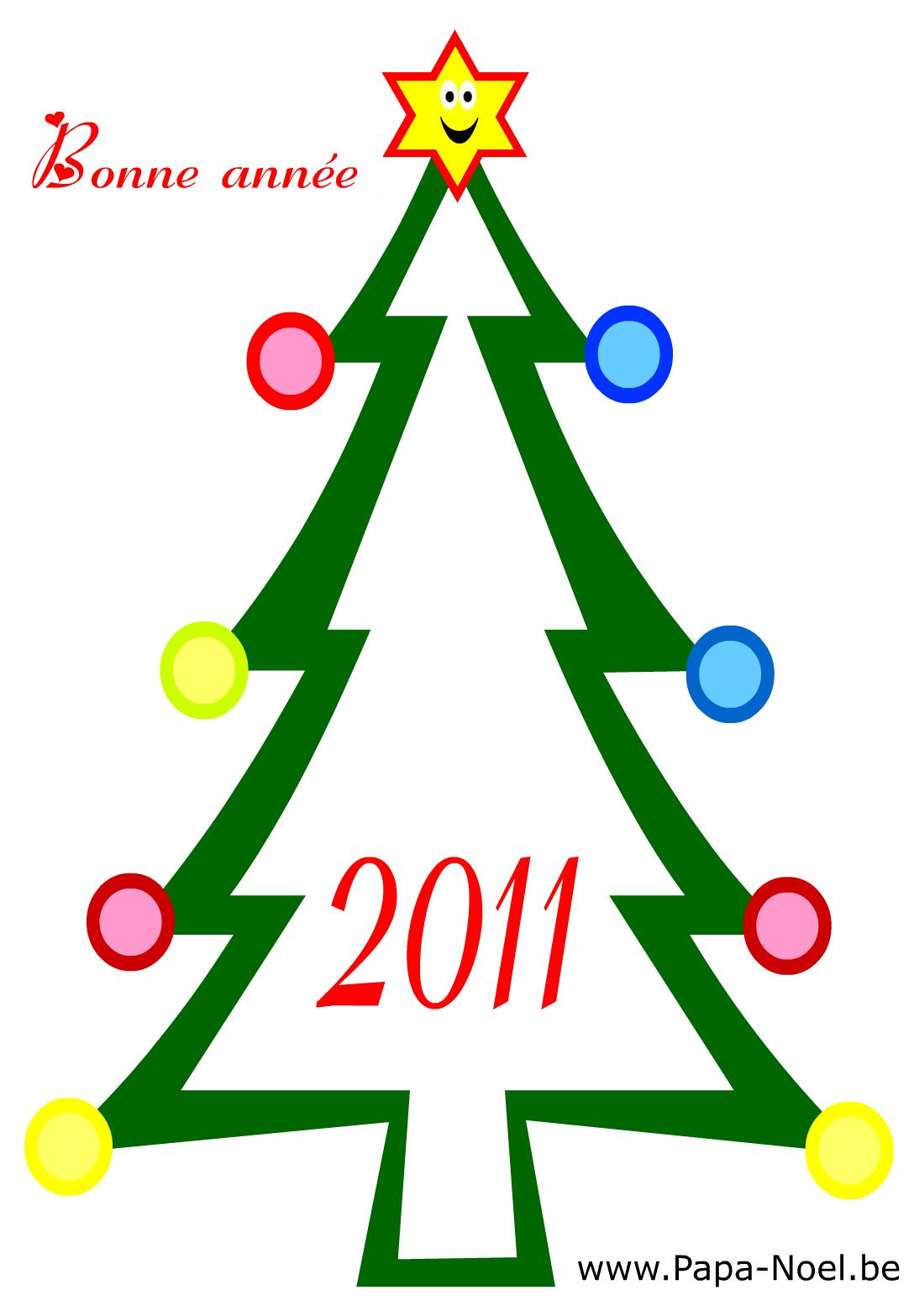 Coloriage De Carte Bonne Année 2011 | Fabriquer Faire Cartes intérieur Carte De Bonne Année Gratuite A Imprimer